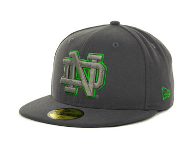 Notre Dame Fighting Irish NCAA Gray Pop 59FIFTY Cap Hats
