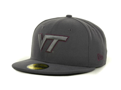 Virginia Tech Hokies New Era NCAA Gray Pop 59FIFTY Cap Hats