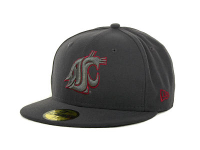 Washington State Cougars NCAA Gray Pop 59FIFTY Cap Hats