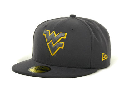 West Virginia Mountaineers NCAA Gray Pop 59FIFTY Cap Hats