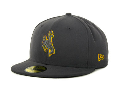 Wyoming Cowboys NCAA Gray Pop 59FIFTY Cap Hats