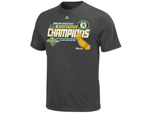Oakland Athletics Majestic MLB Division Champ T-Shirt 2012