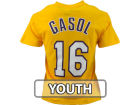 Los Angeles Lakers Pau Gasol Profile NBA Youth Name And Number T-Shirt T-Shirts