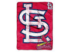 St. Louis Cardinals Micro Raschel 46x60 Triple Play Bed & Bath