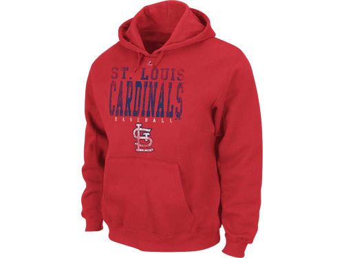 St. Louis Cardinals Majestic MLB Double Play Hooded Fleece