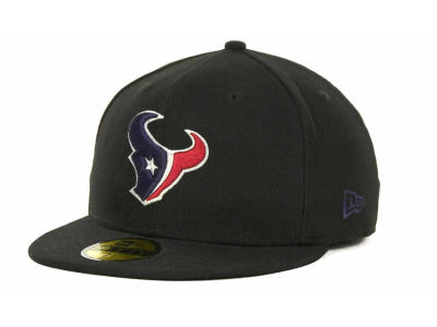 Houston Texans NFL Black Team 59FIFTY Cap Hats