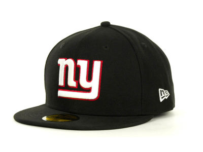 New York Giants NFL Black Team 59FIFTY Cap Hats