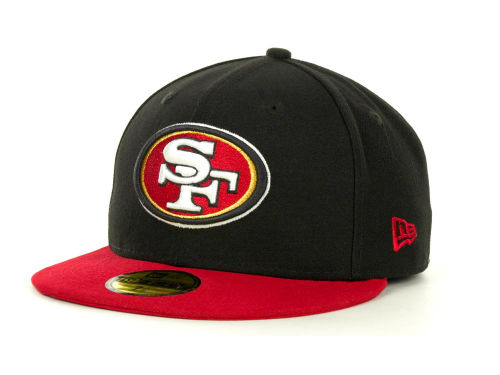 San Francisco 49ers New Era NFL Black Team 59FIFTY Cap Hats