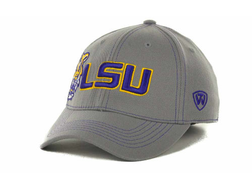 LSU Tigers Top of the World NCAA Sketched Gray Cap Hats