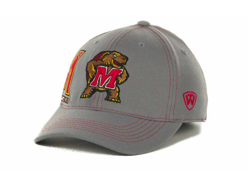 Maryland Terrapins Top of the World NCAA Sketched Gray Cap Hats