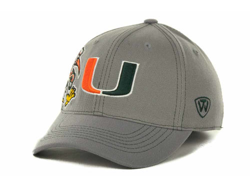 Miami Hurricanes Top of the World NCAA Sketched Gray Cap Hats