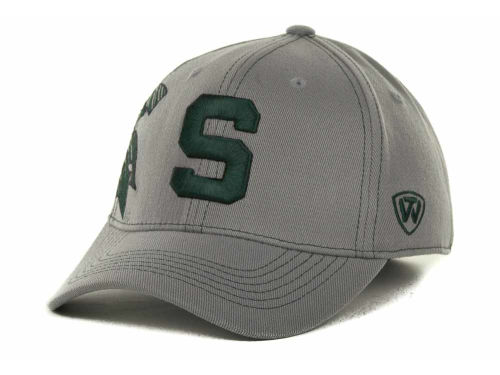 Michigan State Spartans Top of the World NCAA Sketched Gray Cap Hats