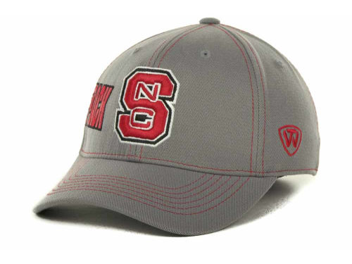 North Carolina State Wolfpack Top of the World NCAA Sketched Gray Cap Hats