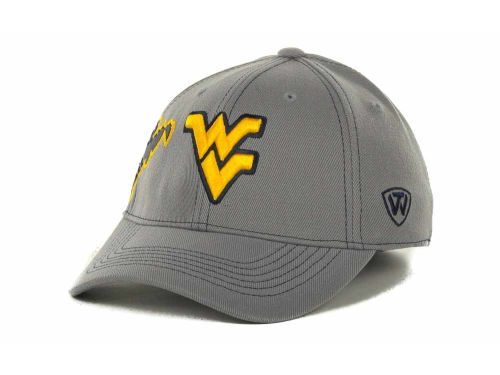 West Virginia Mountaineers Top of the World NCAA Sketched Gray Cap Hats