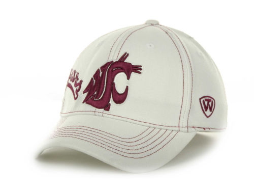 Washington State Cougars Top of the World NCAA Sketched White Cap Hats