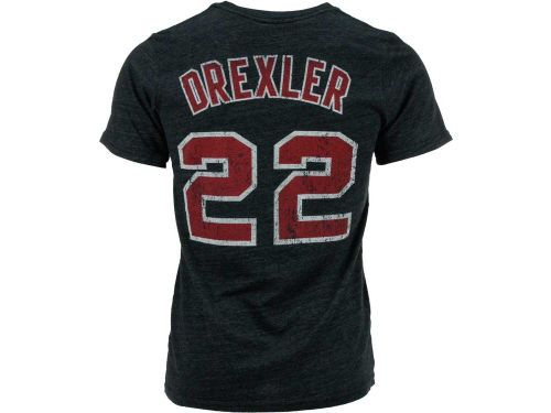 Portland Trail Blazers Clyde Drexler NBA Hardwood Classics Triblend Player T-Shirt