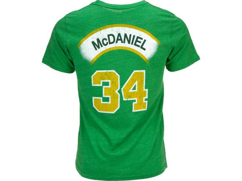 Seattle SuperSonics Xavier McDaniel NBA Hardwood Classics Triblend Player T-Shirt