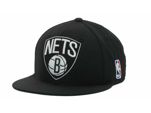 Brooklyn Nets Mitchell And Ness Nets Fitted Cap Hats