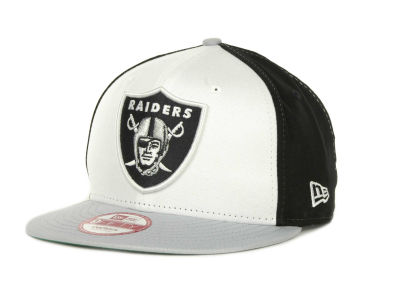 Oakland Raiders NFL White Block 9FIFTY Cap Hats