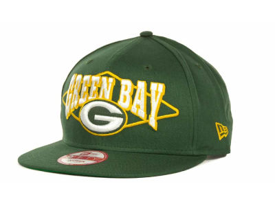 Green Bay Packers NFL Geo Block Snapback 9FIFTY Cap Hats