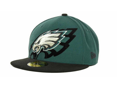 Philadelphia Eagles Over Flock 59FIFTY Cap Hats