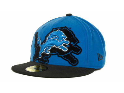 Detroit Lions Over Flock 59FIFTY Cap Hats