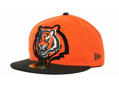 Cincinnati Bengals Over Flock 59FIFTY Cap Hats