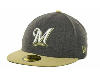 Milwaukee Brewers MLB Melton Basic 59FIFTY Cap Hats