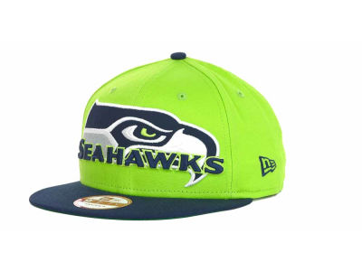 Seattle Seahawks NFL Squared Up 9FIFTY Cap Hats