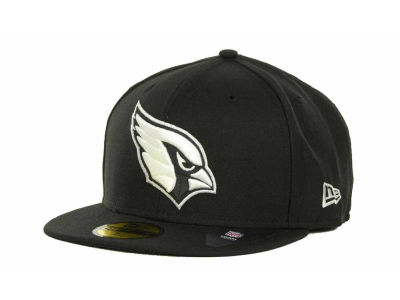 Arizona Cardinals NFL Black And White 59FIFTY Cap Hats