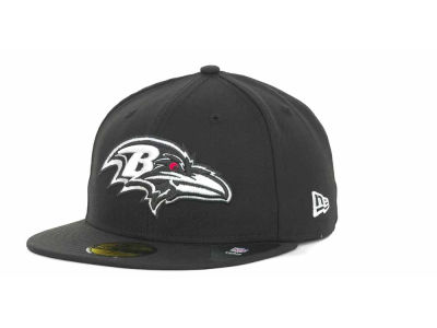 Baltimore Ravens NFL Black And White 59FIFTY Cap Hats