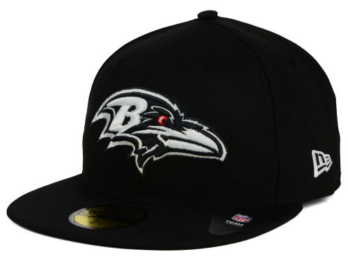 Baltimore Ravens New Era NFL Black And White 59FIFTY Cap Hats