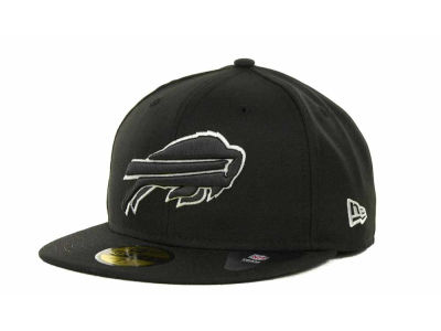 Buffalo Bills NFL Black And White 59FIFTY Cap Hats