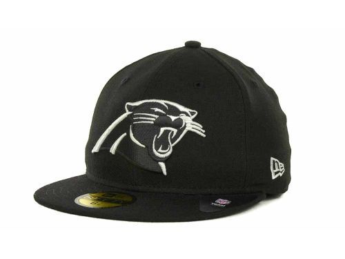 Carolina Panthers New Era NFL Black And White 59FIFTY Cap Hats