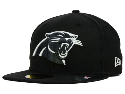 Carolina Panthers NFL Black And White 59FIFTY Cap Hats