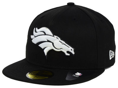 Denver Broncos NFL Black And White 59FIFTY Cap Hats