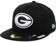 New Era NFL Black And White 59FIFTY Cap Fitted Hats