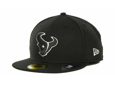 Houston Texans NFL Black And White 59FIFTY Cap Hats