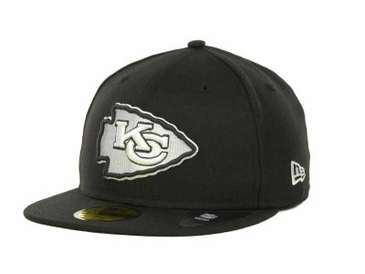 Kansas City Chiefs NFL Black And White 59FIFTY Cap Hats