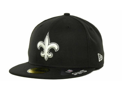 New Orleans Saints NFL Black And White 59FIFTY Cap Hats