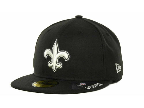 New Orleans Saints New Era NFL Black And White 59FIFTY Cap Hats