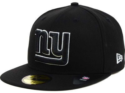 New York Giants NFL Black And White 59FIFTY Cap Hats