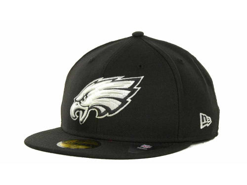Philadelphia Eagles New Era NFL Black And White 59FIFTY Cap Hats