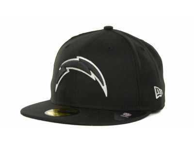 San Diego Chargers NFL Black And White 59FIFTY Cap Hats