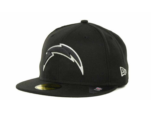 San Diego Chargers New Era NFL Black And White 59FIFTY Cap Hats