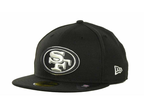 San Francisco 49ers New Era NFL Black And White 59FIFTY Cap Hats