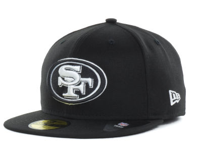 San Francisco 49ers NFL Black And White 59FIFTY Cap Hats