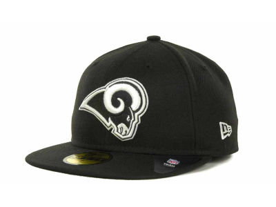 St. Louis Rams NFL Black And White 59FIFTY Cap Hats