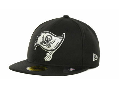 Tampa Bay Buccaneers NFL Black And White 59FIFTY Cap Hats