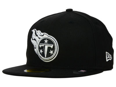 Tennessee Titans NFL Black And White 59FIFTY Cap Hats